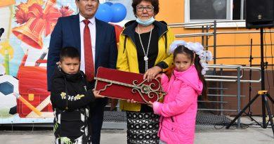 Открытие школы в д. Индери